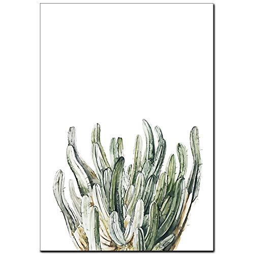 Hosaire 1x Cactus Verde Lienzo Póster Lamina Pared