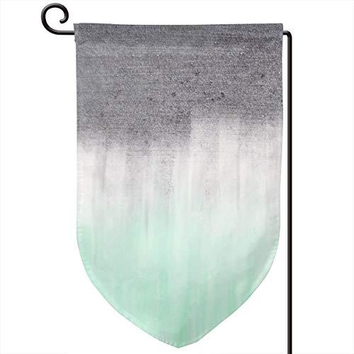 Lilyo-ltd Urban Beton Mintgrün Garten-Flagge, 31,8 x 45,7 cm, doppelseitig, Polyester