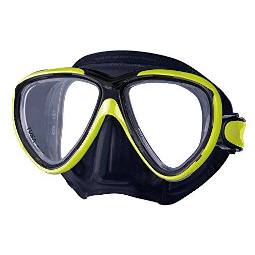 TUSA Freedom ONE M-211 - Zweiglas Tauchmaske, Farbe:schwarz/gelb