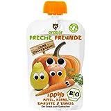 "erdbär Freche Freunde ""100% Apfel, Birne, Karotte & Kürbis"", 6er Pack (6 x 100 g)"