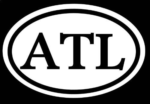 "ATL 6\"" Sticker Atlanta Rap Dirty South JDM Southern Georgia USA Bulldog Falcons *C181* Decal Vinyl Sticker for Cars, Trucks, Laptops, Fridge and More"