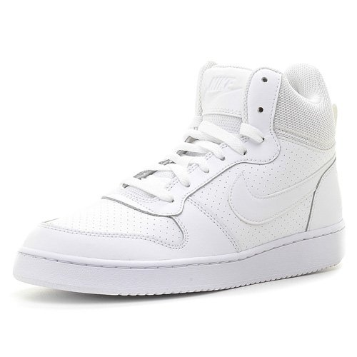 Nike Court Borough Mid, Scarpe da Basket Uomo, Blanco (White / White-White), 42 EU