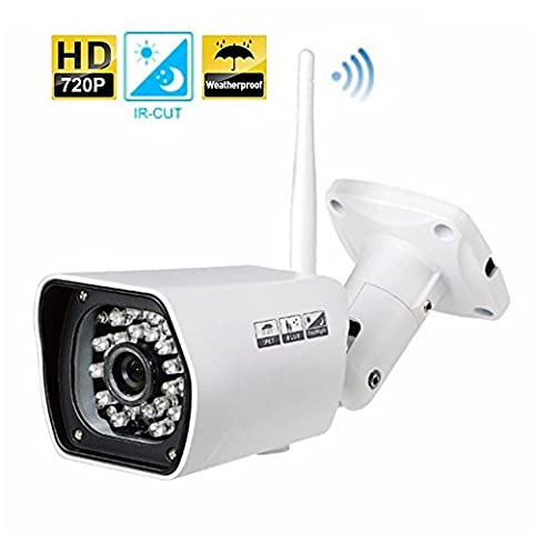 IP Camera Security Camera 720P Surveillance System Camera Weatherproof IP66 INKERSCOOP With P2P Night Vision Movement Detection Including 8G Micro SD
