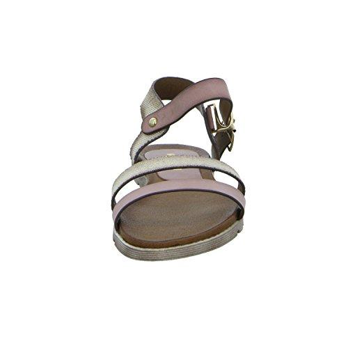 living Updated DW6005-A4 Damen Sandalette sportlicher Boden Rot (Rosa)