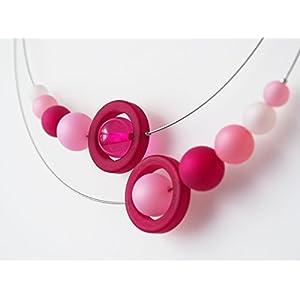 Polariskette pink rosa rose Kette Collier