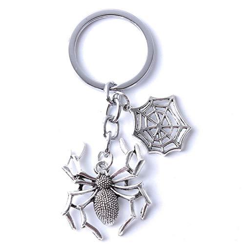 SHIJIAN Spinne Anhänger Gothic Retro Horror Halloween Ornament Paar Geschenk Keychain Schlüsselanhänger Mann und Frau