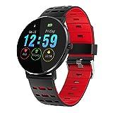 YAOkxin Fitness-Tracker Smart Watch Sport-Touch-Farbe Großbildschirm-Herzfrequenz-Gesundheits-Nachricht Erinnerung Bluetooth Call IP68 wasserdichtes Heart Rate Fitness Armband,E