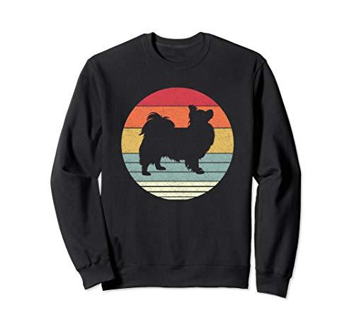 Retro Papillon Dog Shirt Vintage Style Dogs Breed Gift Sweatshirt Papillon T-shirt Sweatshirt