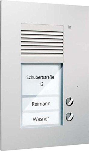 TCS PUK02/1-EN Audio Außenstation PUK 2 Tasten 1-spaltig UP silver