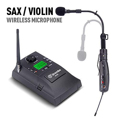Debra Audio UHF Instrument sans fil avec récepteur et émetteur 32 canaux pour saxophone violon