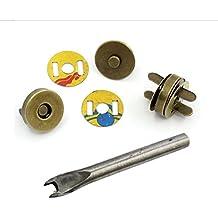"""chengyida 30sets 18mm/3/4""""Bronce Tono botones magnéticos bolso broches/cierre + herramienta de instalación para Monedero bolso de mano"""