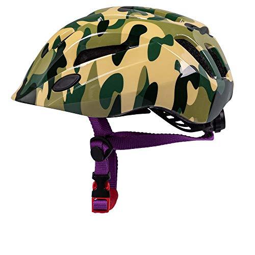 Fahrradhelm Fahrradhelm Cartoon Reiten Eislaufen Eislaufen Sport Helm, Camouflage Armee Green_One Größe