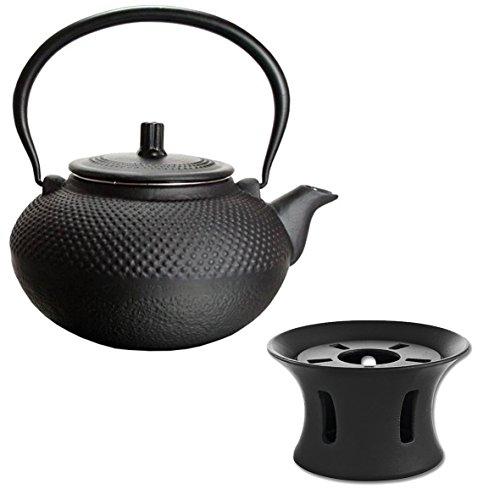 Gusseisen Teekanne & Stövchen Guss 1,5L Asia Japan Style Teesieb Tee Kanne