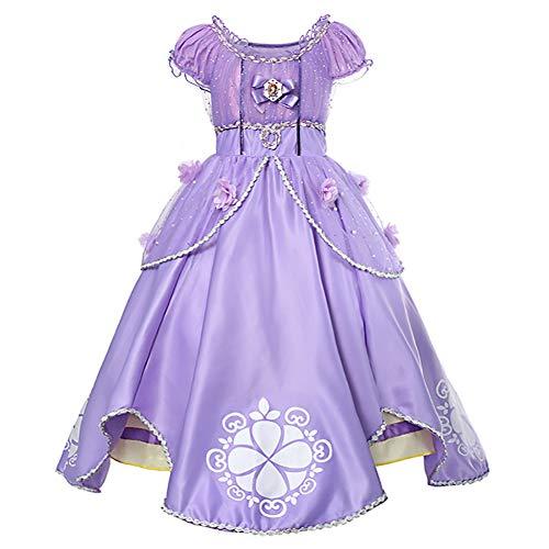 IBTOM CASTLE Rapunzel Kostüm Kinder Cinderella Prinzessin Glanz Karneval Kleid Mädchen Kostüm/Cosplay Halloween Verkleidung für Fest Weihnachten Halloween Geburtstag Party Faschingskostüm 4-5 Jahre