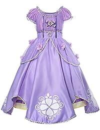 Costumi Bambina Principessa Sofia Rapunzel Vestito Carnevale Travestimento  Festa Nuziale Compleanno Cerimonia Abito Ragazze Comunione Natale a96ef1edac25