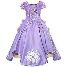 d53d713f72d6 Costumi Bambina Principessa Sofia Rapunzel Vestito Carnevale Travestimento  Festa Nuziale Compleanno Cerimonia Abito Ragazze Comunione Natale
