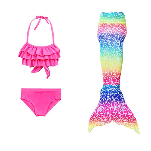 Mother & Kids 2019 Fashion Childrens Split Swimsuit Bikini Mermaid Tail And Wings Swimsuit Girl Swimming Mermaid Tail Cosplay Costume Refreshing And Beneficial To The Eyes