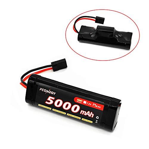 FCONEGY NiMH-Akku 8.4V 5000mAh Hump Pack mit Traxxas Stecker Batterie für RC Auto/Boot/Truck/LKW (Pack Rc Auto Akku)