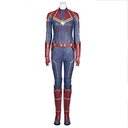 Captain Kostüm Amazing - nihiug Captain Marvel Überraschung Captain COS Wear Amazing Girl Tights Komplettes Cosplay-Outfit,Blue-M