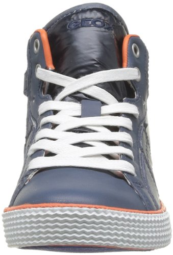 Geox J SMART BOY D J42A8D0TDFUC0659 Jungen Sneaker Blau (NAVY/ORANGE C0659)