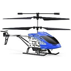Poetryer Helicóptero De Control Remoto Helicóptero RC Aleación Mini Helicóptero Radio Control Remoto Aeronave Regalo Niños Juguete Bebé RC Plane Juguete De Regalo Para Niños Resistencia Al Choque Cons