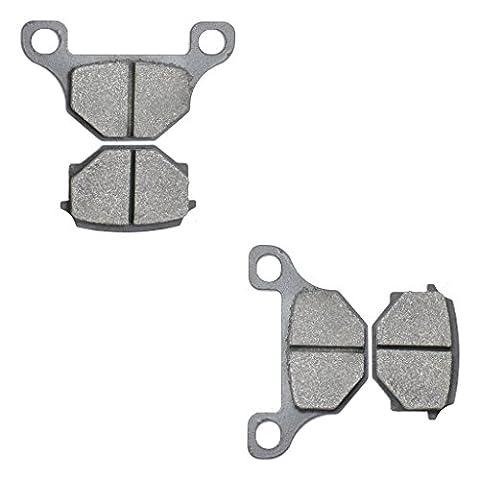 Semi Metallic Brake Pad Set fit for RIEJU Street Bike MRT50 MRT 50 cc 50cc Supermotard Cast wheel single piston caliper 09 10 11 12 13 14 15 2009 2010 2011 2012 2013 2014 2015 4