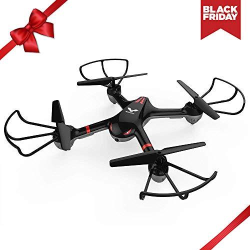 DROCON Cyclone Versión Wi-Fi FPV Drone Quadcopter de entretenimiento X708W con cámara HD para principiantes y niños con modo sin cabeza y un botón de retorno.(X708W Versión de video en vivo)