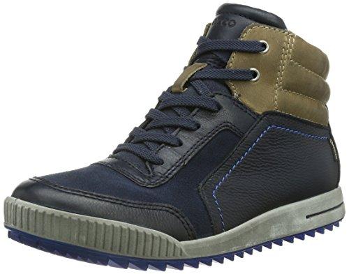 Ecco ECCO JUNIOR STREET, Jungen Hohe Sneakers, Blau (MARINE/MARINE/BEIGE 58776), 33 EU (1 Kinder UK) (Ecco Street)