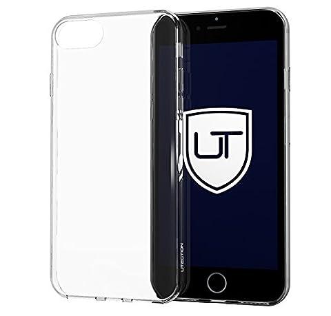 Coque Silicone iPhone 7 Housse Étui [Ultra-Mince & Clear]