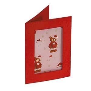 Cartes passe-partout 3 volets - NOEL - fenêtre rectangulaire avec enveloppes - lot de 3