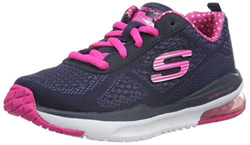 Skechers Empire Rock Around, Scarpe da Ginnastica Basse da Ragazza', Blu (Navy/Pink), 37