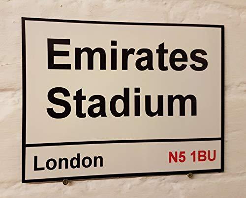 HNNT Arsenal FC Emirates Stadion Straßenschild Metall Aluminium Fußball Boden Highbury Metallschild 20,3 x 30,5 cm