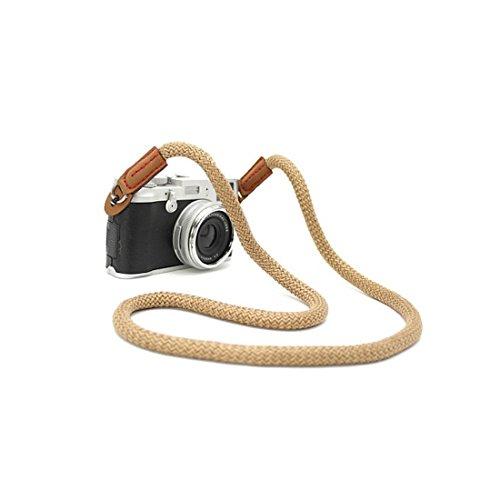 CTN Universale laccio da collo delluomo per DSLR en coton beige DSLR Canon FUJI Fujifilm Leica Nikon Pentax Olympus Sony Panasonic Pentax Samsung