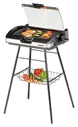 Cloer 6720 Barbecue-Grill mit Standfuss und Glasplatte
