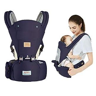 Arkmiido Mochila Portabebé Ergonómico 3 en 1,Fular Porta Bebé con Múltiples Posiciones Suave