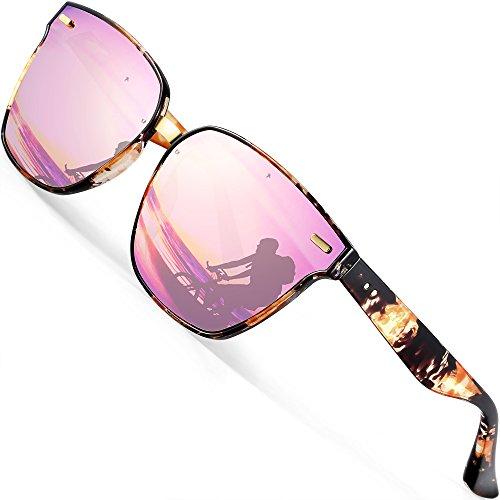 ATTCL Unisex Sonnenbrille 100% Polarisierter UV-Schutz 555-Pink