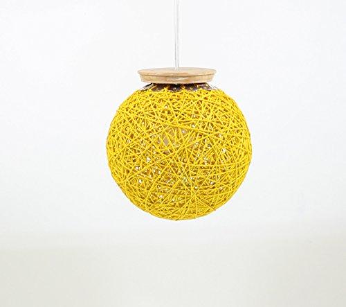 Eartho Hanging Lamp with yarn (Medium, Yellow)