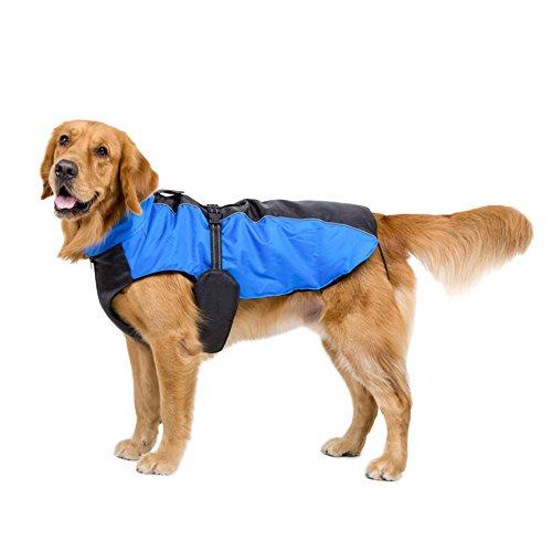 Là Vestmon Hund Wintermantel Wasserdicht Warm Parka mit Fleece Reflektierende Haustier Jacke Regenmantel bei kaltem Wetter für große Hunde