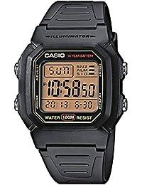 Casio Collection W-800HG-9AVES, Reloj Cuadrado con Luz LED para Hombre,