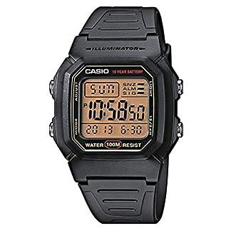 Casio Collection W-800HG-9AVES, Reloj  Cuadrado con Luz LED para Hombre, Negro