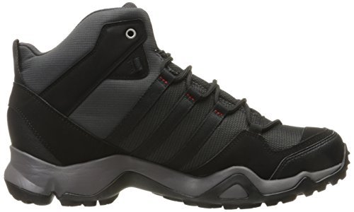 adidas Men's AX 2.0 Mid GTX Hiking Shoes Black Size: Utility Black/Black/Light Scarlet