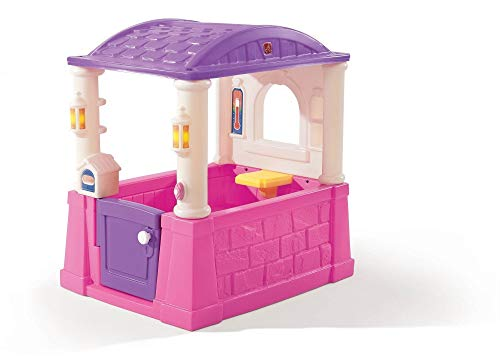 Beauty.Scouts Kinderspielhaus Luisa aus Kunststoff 76,2x101,6x109,2cm Kunststoffspielhaus Spielhaus Gartenhaus Kinder Spiel Haus Outdoor Klingel Postfach