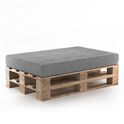 Farbvielfalt Palettensofa Palettenpolster Kissen Sofa Couch Polster Indoor Outdoor (Sitzkissen, Grau)