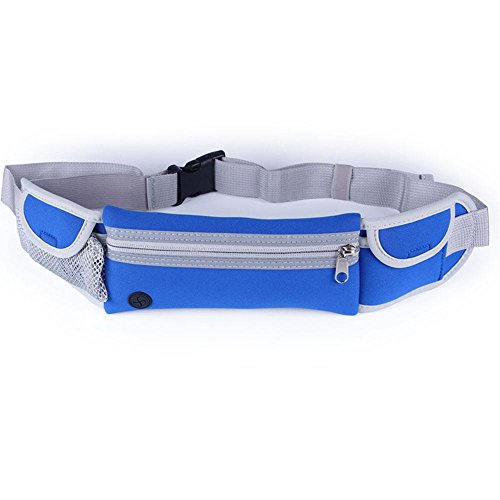 BUSL Wandern Hüfttaschen Outdoor-Sport-Männer und Frauen persönliche Telefontasche Stealth multifunktionale Fitnessgeräte Lauf Blue