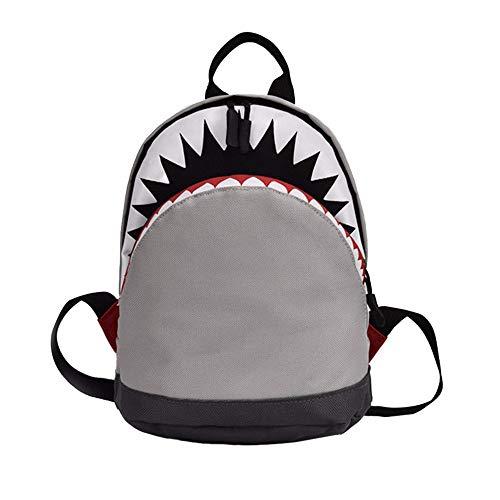 YWLINK MäDchen Jungen Kinder Komisch Cartoon Hai-Tier Shark Campus Rucksack Kleinkind Schultasche Rucksackhandtaschen Daypacks(Grau,30cm(L)*15cm(W)*35cm(H))