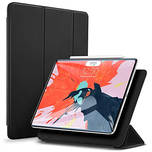 ESR Hülle kompatibel mit iPad Pro 2018 12.9 - [Apple Pencil kompatibel] Magnetisches Smart Case - Ultra Dünnes Cover mit Auto Sleep/Wake - Kratzfeste Schutzhülle für iPad Pro 12,9 Zoll 2018- Schwarz