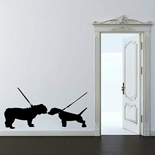 65CM * 42.7 CM Interesante animal dos perros PVC casa pegatinas de...