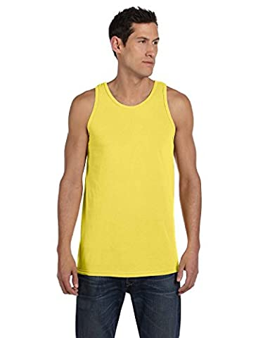 Authentic Pigment 5.6 oz. Pigment-Dyed Cotton Tank - NEON YELLOW