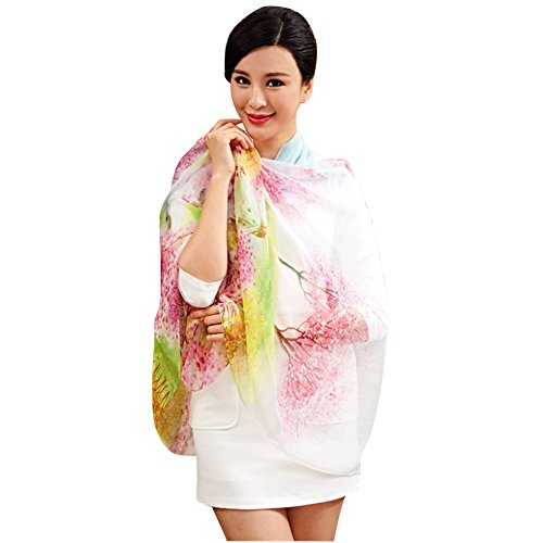 SaiDeng Femme Élégant Grande Taille Colorful Imprimer Châle Écharpe Comme Image 18