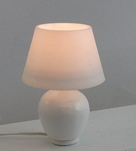 Puppenhaus Miniatur 1:12 Beleuchtung Elektrische Modern Weiße Tischlampe Keramik (Aztec Keramik)